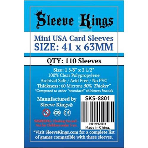 110 x Mini USA Card Sleeves (41mm x 63mm)
