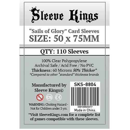 110 x Sails Of Glory Card Sleeves (50mm x 75mm)