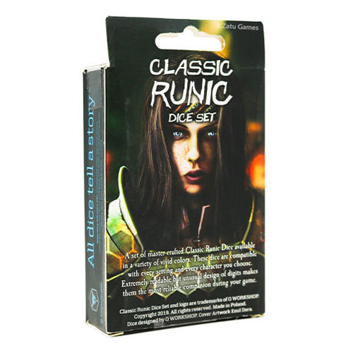 Q-Workshop Classic Runic Black & Red Dice Set (7)