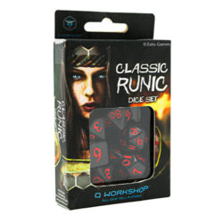 Q-Workshop Classic Runic Black & Red Dice Set (7)