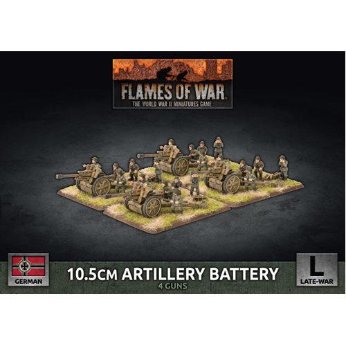 Flames of War: 10.5cm Artillery Battery (x4 Plastic)