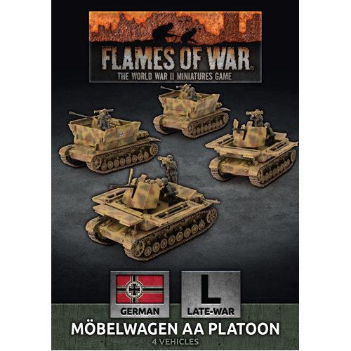 Flames of War: Mobelwagen 3.7cm AA Tank Platton (x4)