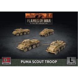 Flames of War: Puma Scout Troop (x4 Plastic)