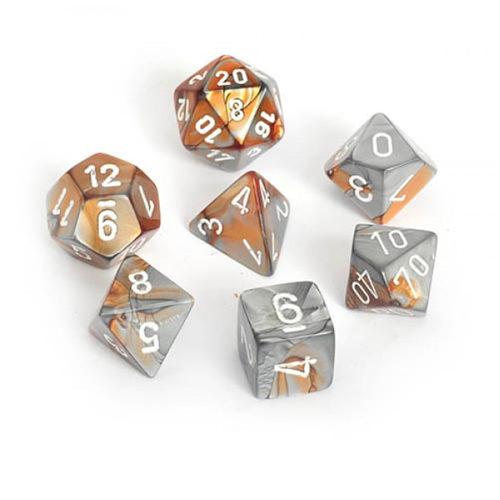 Gemini Poly 7 Set: Copper-Steel/White