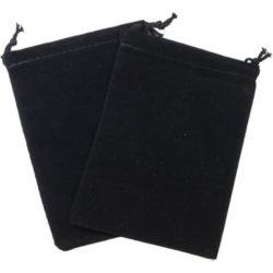 Large Suede Dice Bags - Black