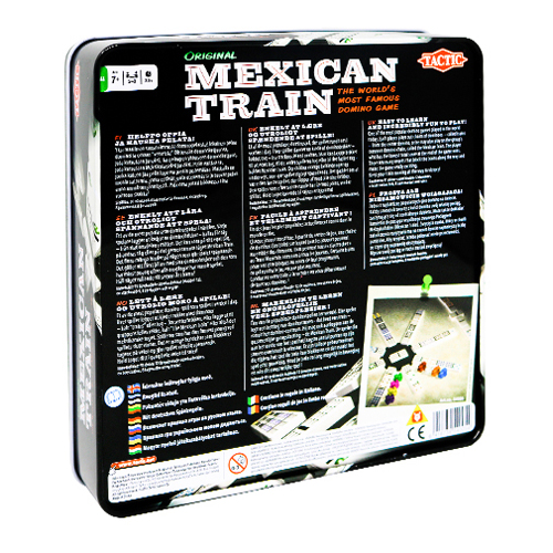 Mexican Train in Tin – 91 double 12 dominoes