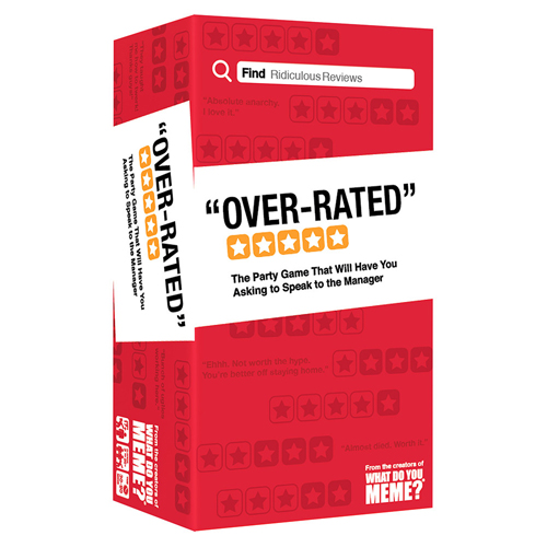 Over-Rated (Not for resell on Amazon/eBay)
