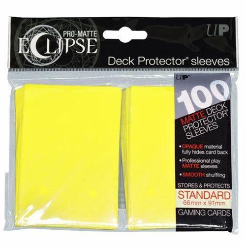 PRO-Matte Eclipse Lemon Yellow Standard Deck Protectors (100)