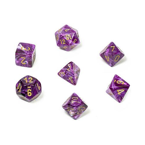 Poly 7 Set: Vortex Purple/gold
