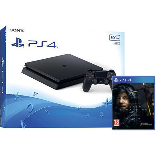 Sony PS4 - 500GB Black Console - Death Stranding Bundle