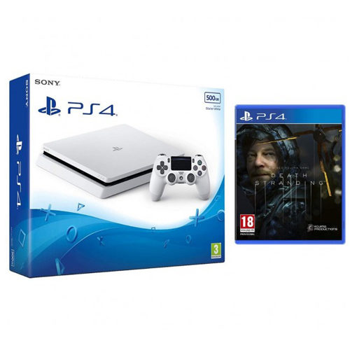 Sony PS4 - 500GB White Console - Death Stranding Bundle