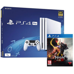Sony PS4 - 500GB White Console - Nioh 2 Bundle