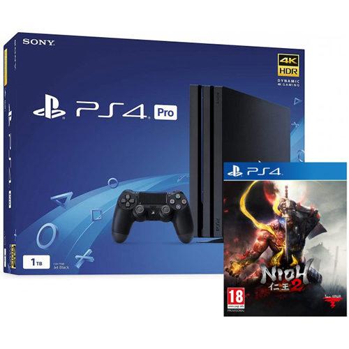 Sony PS4 Pro - 1TB Black Console - Nioh 2 Bundle