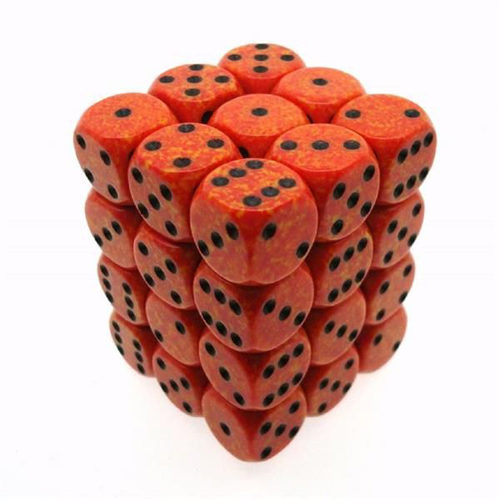 Speckled D6 Set of 36 : Fire