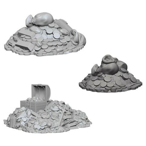 WizKids Unpainted Miniatures (W3) - Treasure Piles