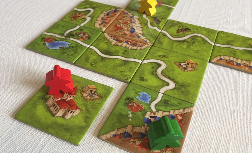 How to Play Carcassonne - placing a monastery