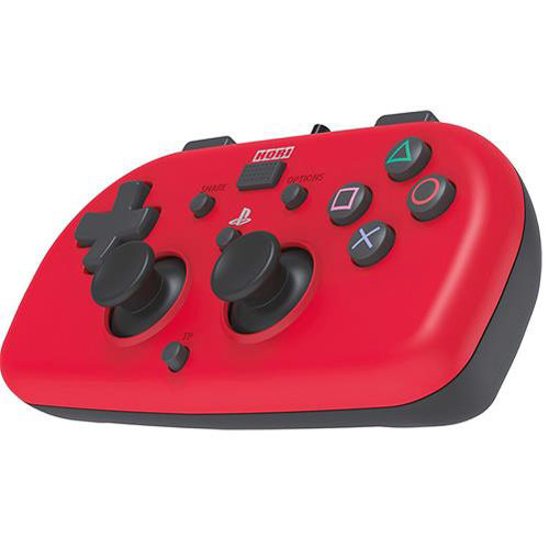 Wired Mini Gamepad for Kids - PlayStation 4 Controller (Red)