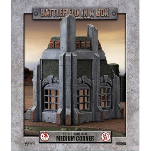 *B Grade* Battlefield In A Box: Gothic Industrial - Medium Corner - 30mm