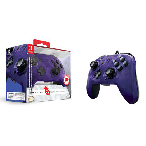 Face Off Deluxe Switch Controller And Audio - Purple CAMO