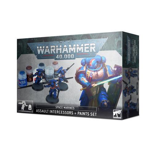 Warhammer 40K: Space Marines - Assault Intercessors and Paints Set