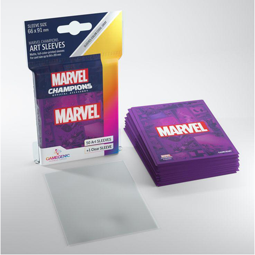 Gamegenic Marvel Champions Art Sleeves - Marvel Purple (50)