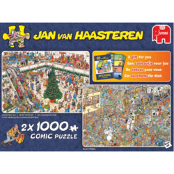 Jan Van Haasteren: Holiday Shopping 2 in 1 Jigsaw Puzzle (2 X 1000 piece puzzles)