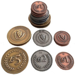 Viticulture Board Game: Metal Lira Coins Upgrade Pack