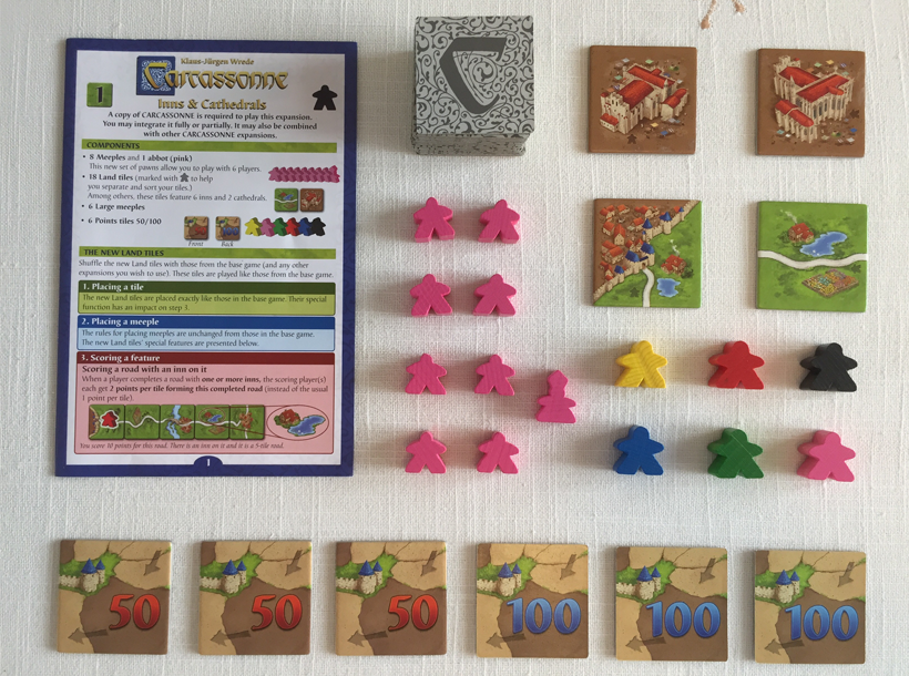 Carcassonne Expansion Components