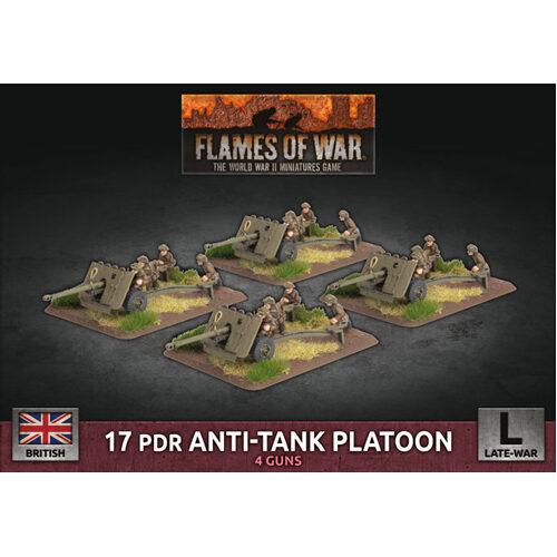 Flames of War: 17 pdr Anti-Tank Platoon (x4 Plastic)