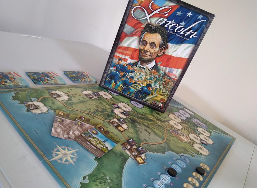 Lincoln A Martin Wallace Game Board Shot