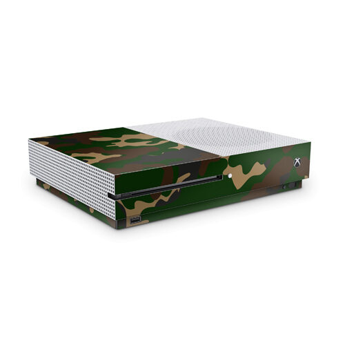 Xbox One S Skin Camouflage Green