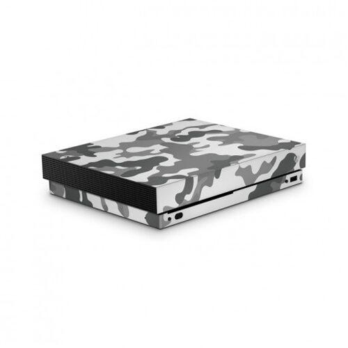 Xbox One X Skin Camouflage Grey