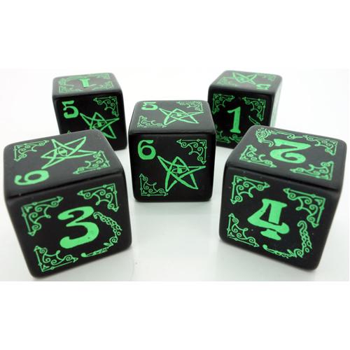 Arkham Horror Dice Set: Black and Green