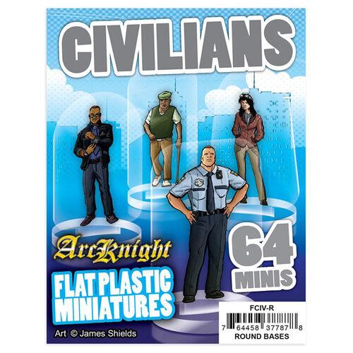 Civilians: Flat Plastic Miniatures