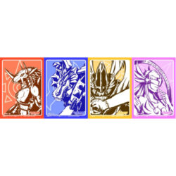 Digimon Card Game Sleeves (60) - Assorted (One Supplied)