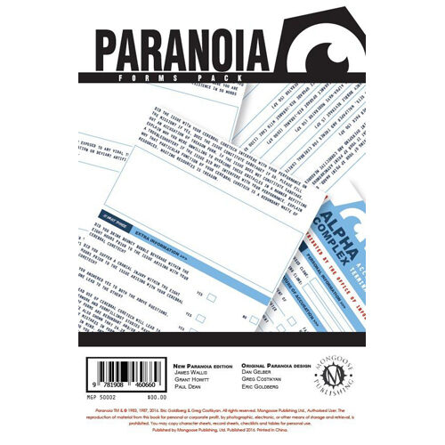 Forms Pack: Paranoia RPG