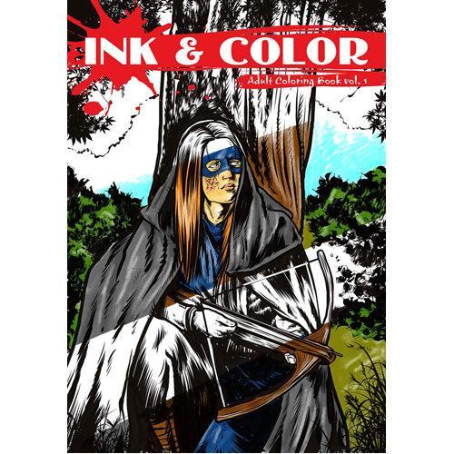 Ink & Color: Adult Coloring Book Vol. 1