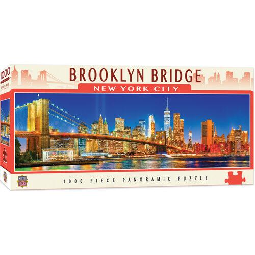 Masterpieces Puzzle: City Panoramic Brooklyn Bridge NYC Puzzle - 1000 pieces