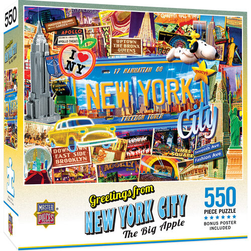 Masterpieces Puzzle: Greetings from New York Puzzle - 550 pieces