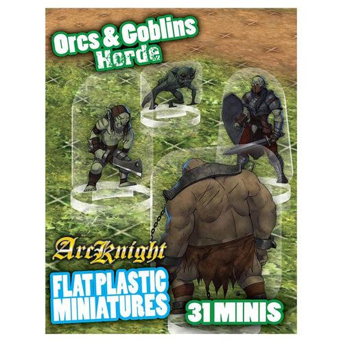 Orcs And Goblins Horde: Flat Plastic Miniatures