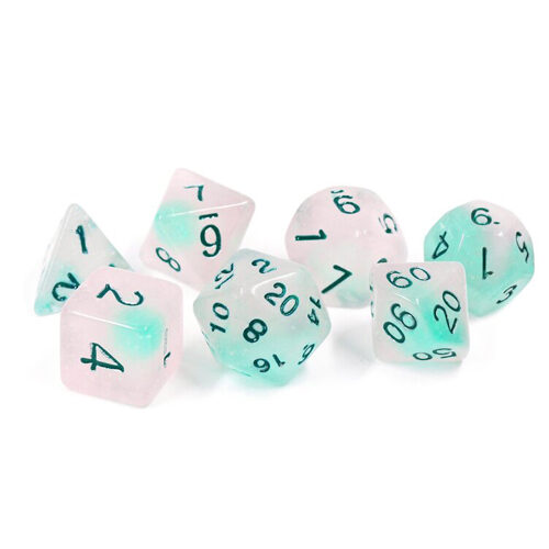 Sirius Dice: Frosted Glowworm Polyhedral Dice Set