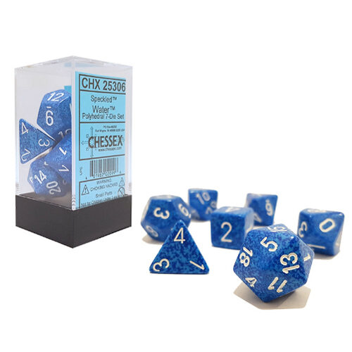 Speckled Polyhedral Dice 7 Set: Water