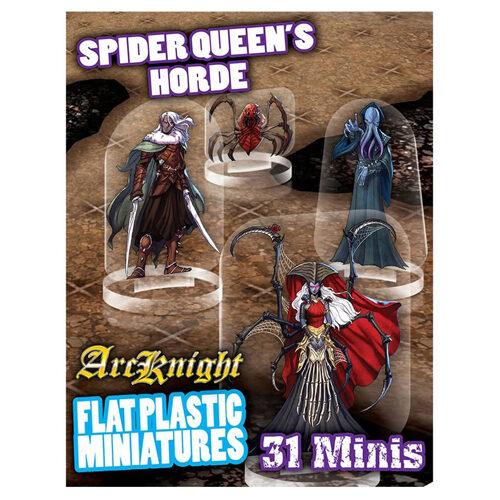 Spider Queen's Horde: Flat Plastic Miniatures