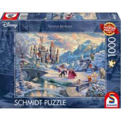 Thomas Kinkade: Disney Beauty and the Beast Winter Enchantment (1000pc)