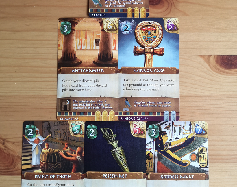 Valley of the kings card selection