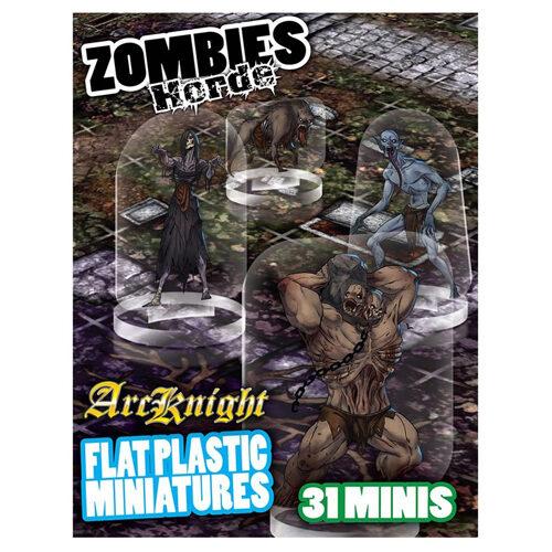 Zombie Horde: Flat Plastic Miniatures