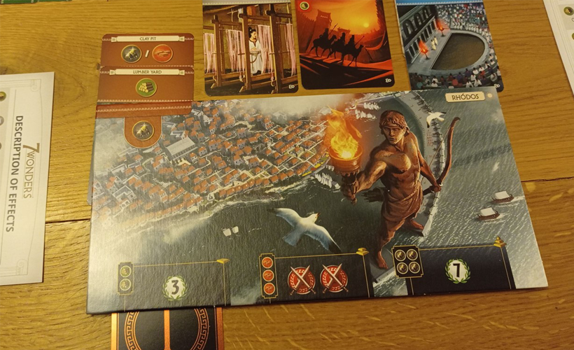 7 wonders board art