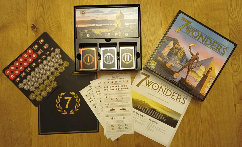 7 wonders box components