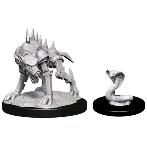 D&D Nolzur's Marvelous Unpainted Miniatures (Wave 14): Iron Cobra and Iron Defender