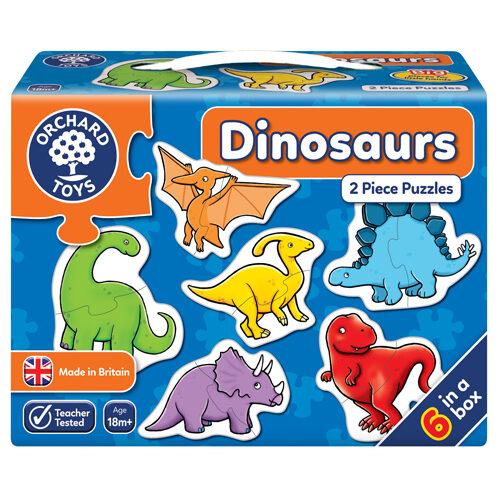 Dinosaur 2 Piece Puzzles